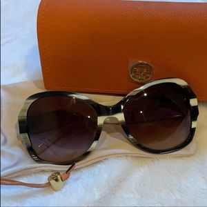 Tory Burch Black and White Sunglasses